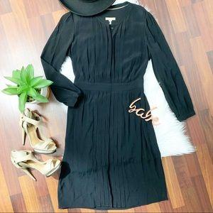 Burberry Brit black pleated classic midi dress